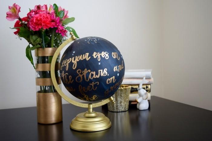 diy deko globus bemalen dekoideen