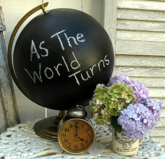 diy deko globus botschaft rustikal