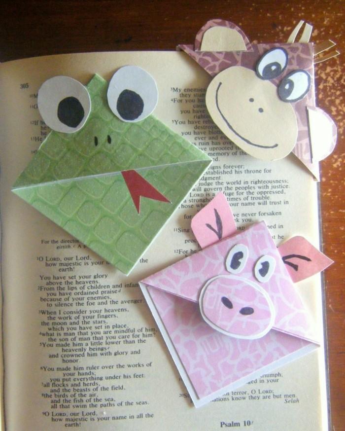 diy deko papier lustige tiere