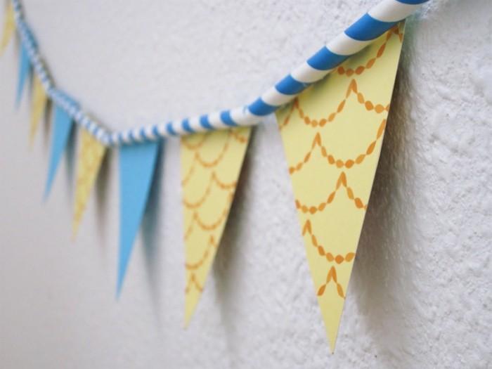 diy deko partydeko ideen papier girlanden