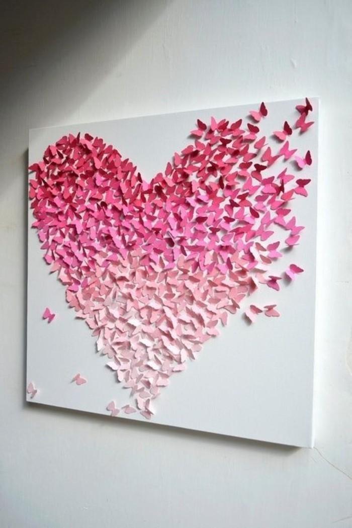 diy deko wanddeko herz rosanuancen