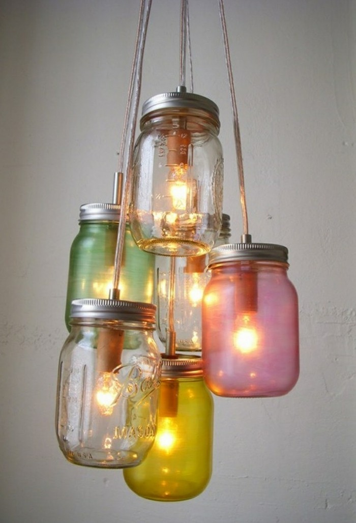 diy ideen einmachgläser leuchter kreatives basteln