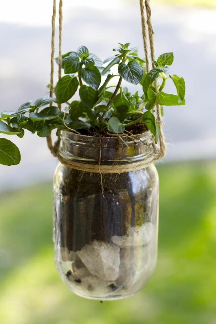 diy ideen einmachgläser pflanzenbehälter