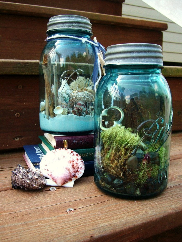 diy ideen einmachgläser terrarium machen