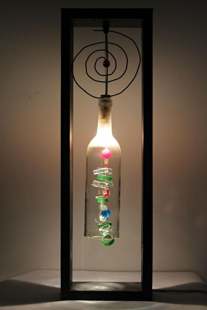 diy ideen flasche lampe ausgefallen