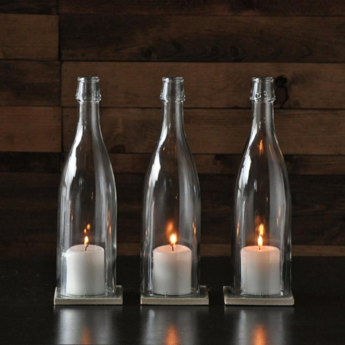 deko flaschen 44 vorschl ge wie sie eine untypische. Black Bedroom Furniture Sets. Home Design Ideas