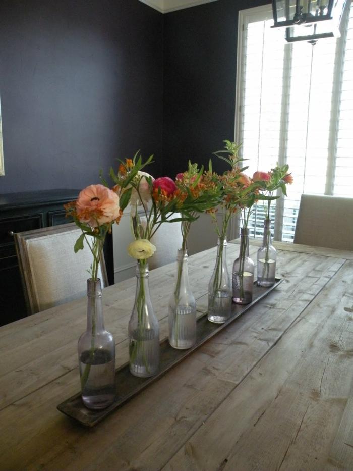 diy ideen flaschen vasen blumendeko wohnideen