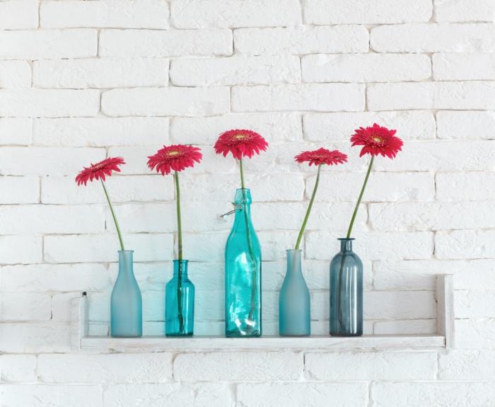 diy ideen kreative wohnideen blumen vasen