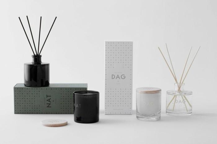 duftkerzen skandinavisk design duftstäbchen nat dag skandinavisch wohnen