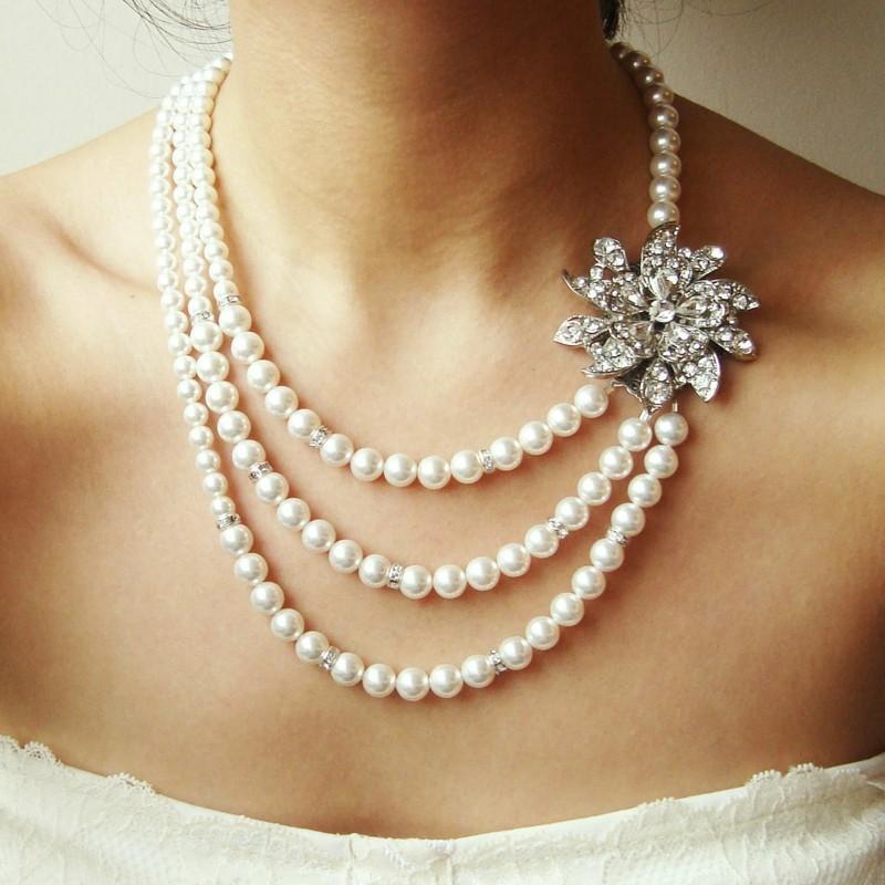 echte Perlen Edelsteine Wirkung Perlen Brautschmuck