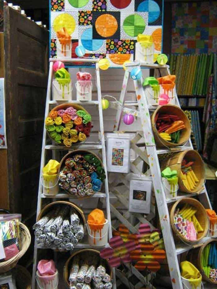 Upcycling Ideen einrichtungbeispiele diy ideen holzleiter indirekte beleuchtung laden
