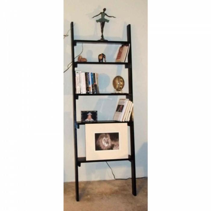 42 deko ideen und einrichtungsbeispiele mit holzleiter. Black Bedroom Furniture Sets. Home Design Ideas