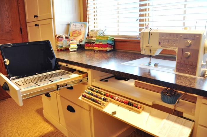 einrichtungsbeispiele deko ideen wohnideen DIY ideen naehzimmer atelier