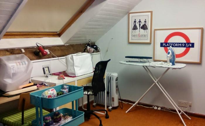 einrichtungsbeispiele deko ideen wohnideen DIY ideen naehzimmer dachboden