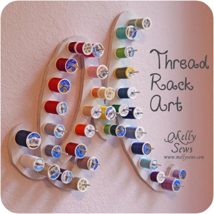 einrichtungsbeispiele deko ideen wohnideen DIY ideen naehzimmer trendfarben naehmaschine idee