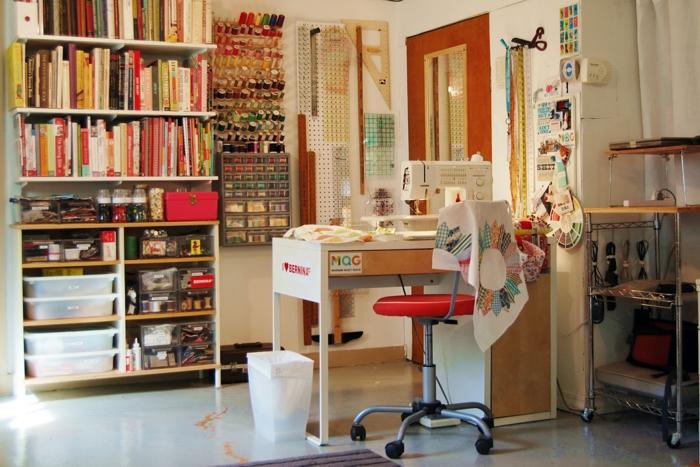 einrichtungsbeispiele deko ideen wohnideen DIY ideen naehzimmer2