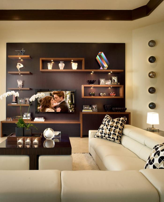 wohnzimmer in braun 60 mglichkeiten wie sie ein braunes wohnzimmer gestalten - Wohnzimmer Dekorieren Braun