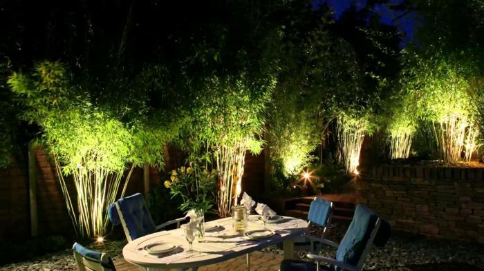 gartenbeleuchtung bambus außenbeleuchtung indirekte beleuchtung