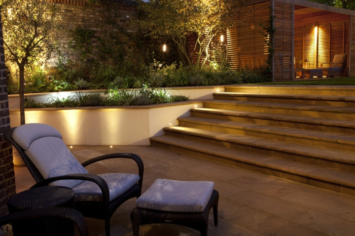 15 Ideen Für Garten Beleuchtung-die Landschaft Im Hof Schön ... Effektvolle Gartenbeleuchtung0 Ideen