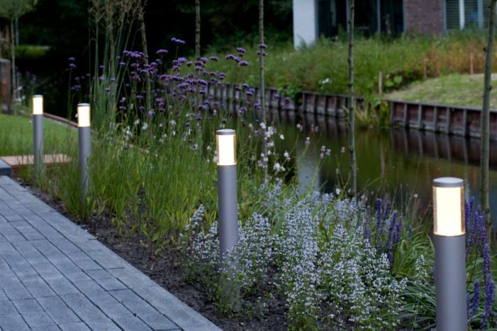 gartenbeleuchtung moderne außenbeleuchtung led leuchten gartengestaltung ideen