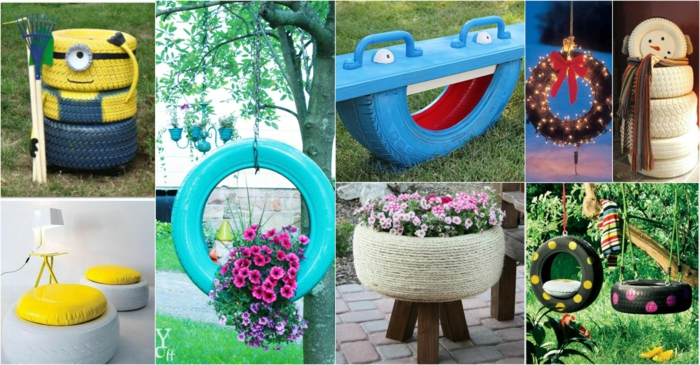 Alte autoreifen deko  33 super kreative Gartengestaltung Ideen für den Sommer
