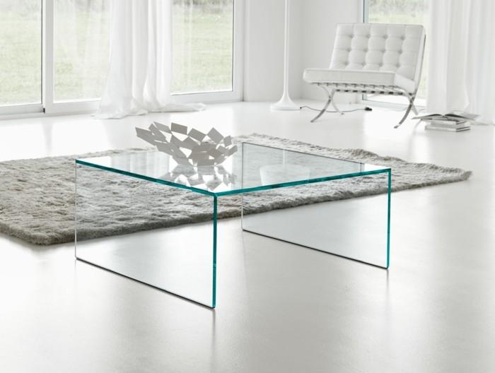 glastisch einrichtungsbeispiele wohnideen deko ideen quadratisch