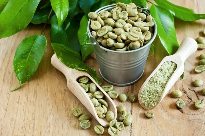 grüner kaffee gesund abnehmen pulver grüne bohnen