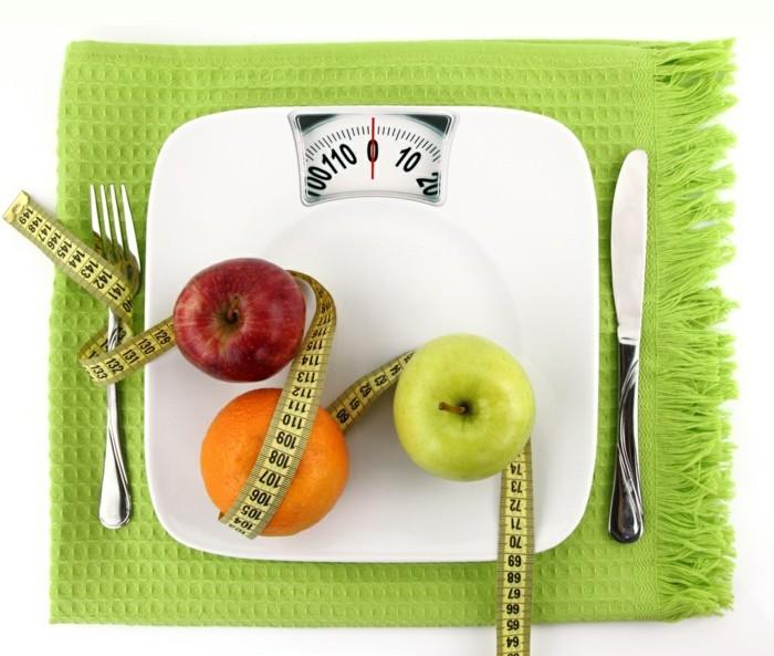 grüner kaffee gesund abnehmen richtige ernährung äpfel obst