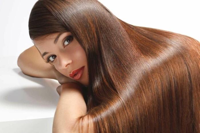 haarpflege tipps haare färben natürlich braunes langes haar