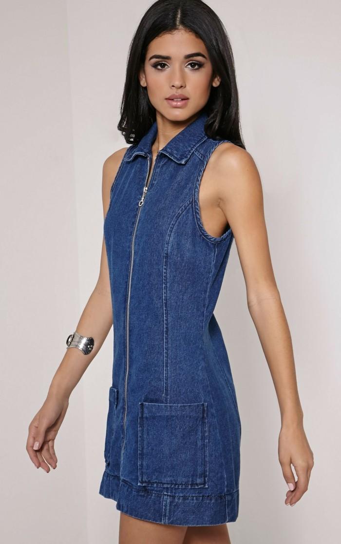 Jeans kleid kurz