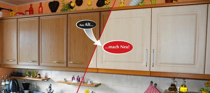 küchenfronten austauschen holz furniere renovieren