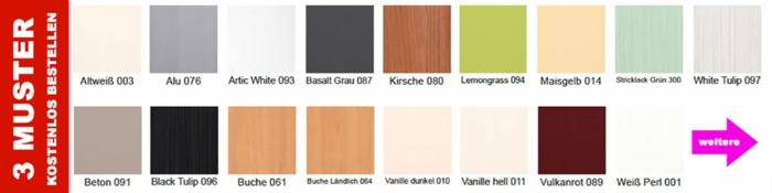 küchenfronten austauschen holzoptik farbtöne auswählen