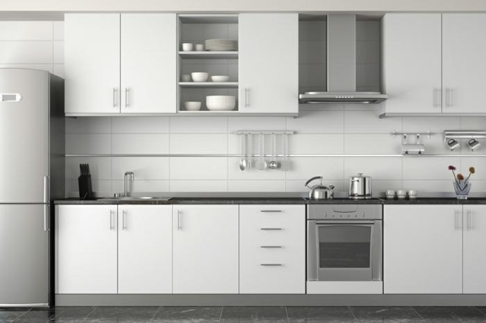 küchenfronten austauschen küche küchenrenovierung weiße küchenschränke