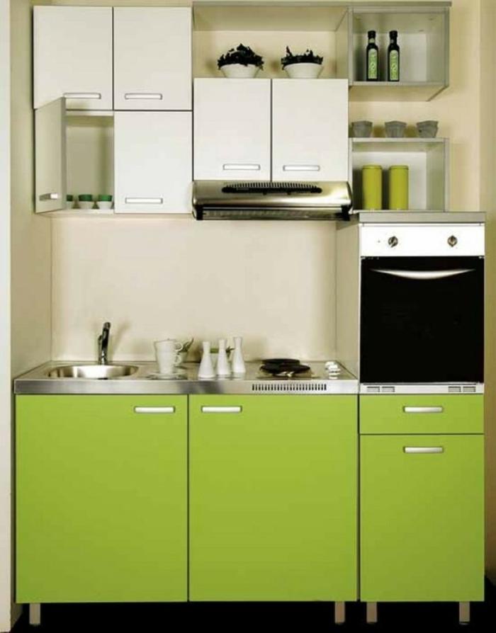 küchenfronten austauschen moderne küche küchenschränke apfelgrün weiß