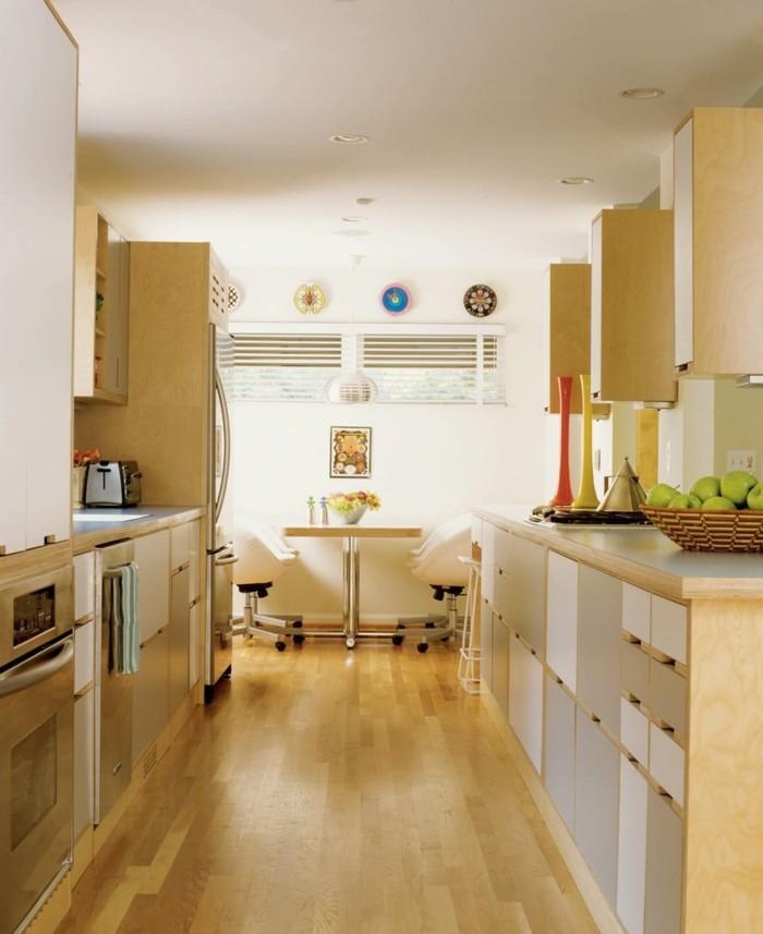 küchenmöbel bodenbelag holzoptik beigenuancen küchendesign