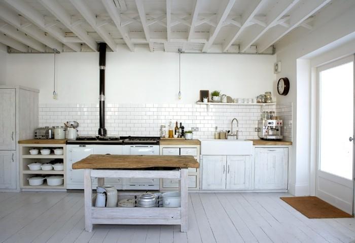 küchenmöbel rustikale küchenschränke weiße küche kücheninsel