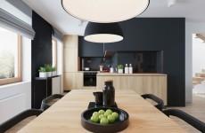 küchenschränke-kaufen-hölzerne-unterschränke-schwarze-wände