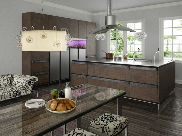 küchenschränke kaufen industrielle einrichtung offener wohnplan