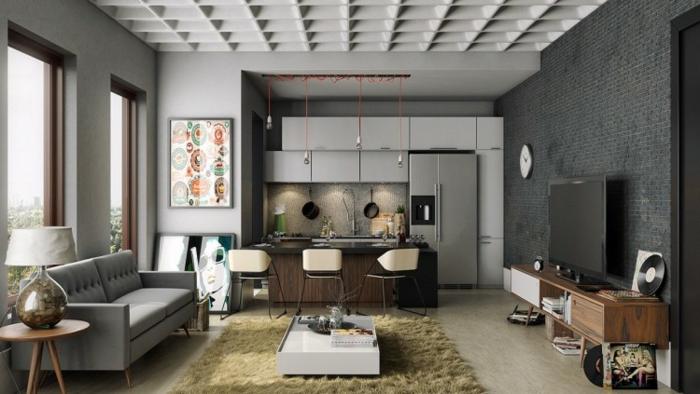 küchenschränke kaufen offener wohnplan hellgrau