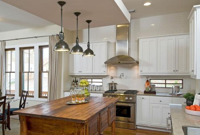 küchenschränke kaufen weiß rustikale kücheninsel