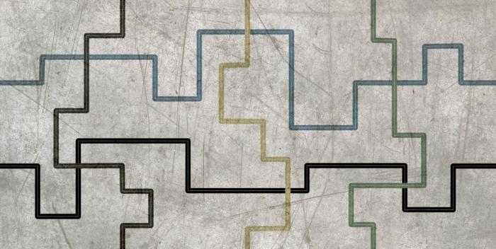 keramikfliesen einrichtungsbeispiele wohn schwarz weiß beton