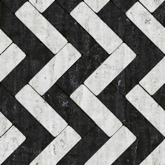 keramikfliesen einrichtungsbeispiele wohn schwarz weiß