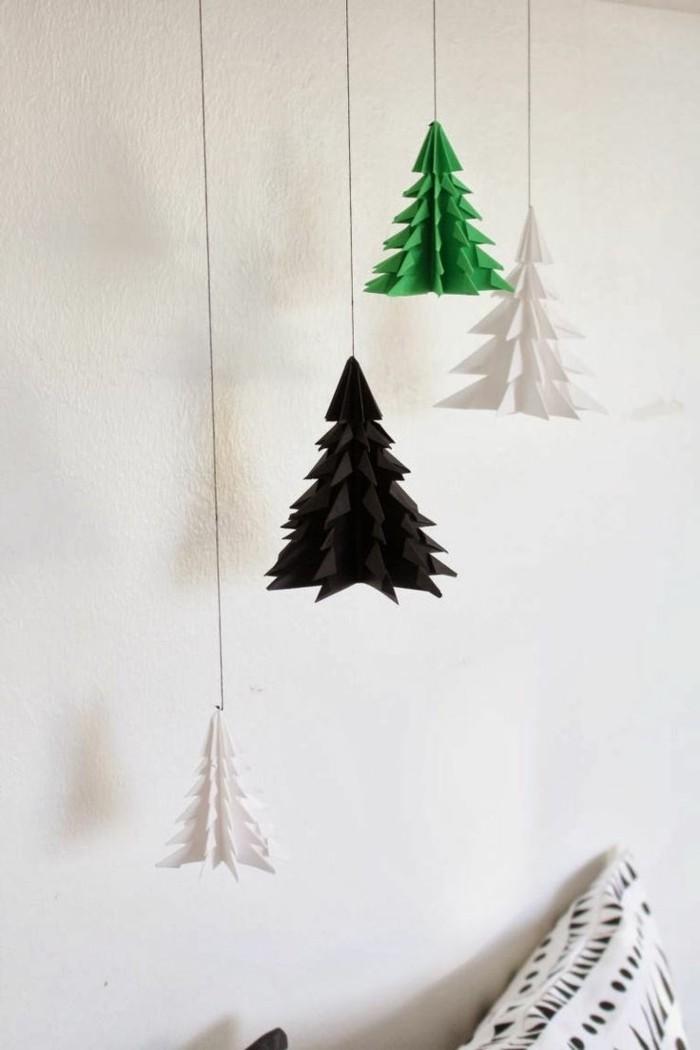 kreativ basteln diy hängende deko weihnachten