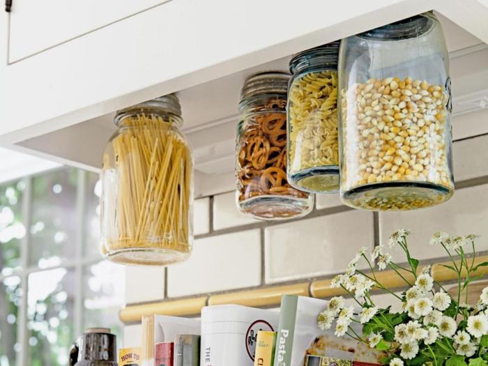 kreativ basteln einmachgläser wohnideen küche