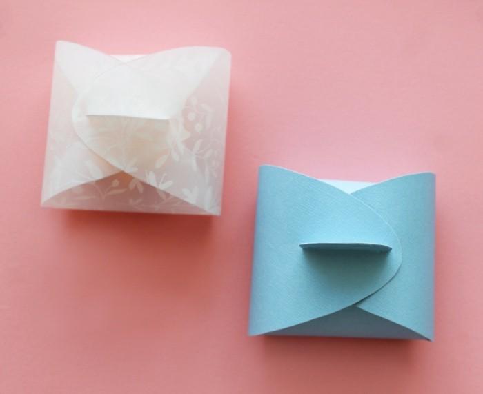 kreativ basteln papier kleine dosen