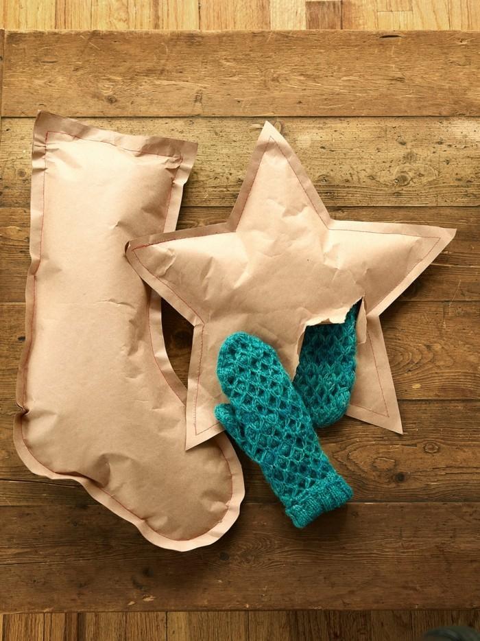 kreativ basteln papier strümpfe weihnachten