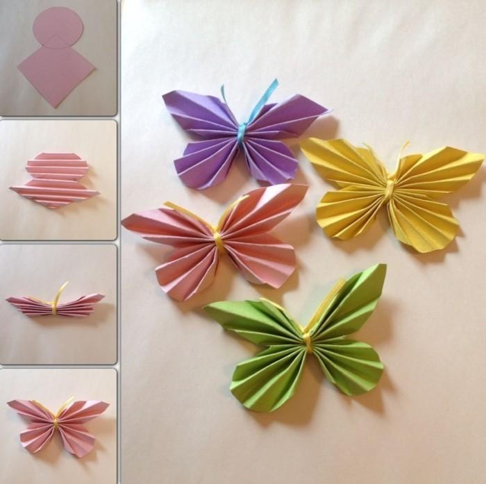 kreativ basteln schönen schmetterling basteln aus papier