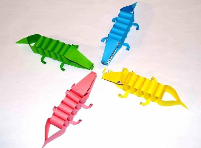 kreativ basteln tiere aus papier basteln