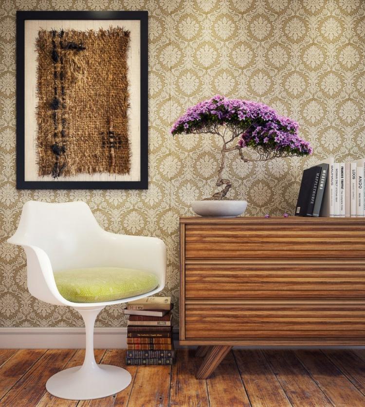kreative Wanddeko Wohnzimmer Ideen Art