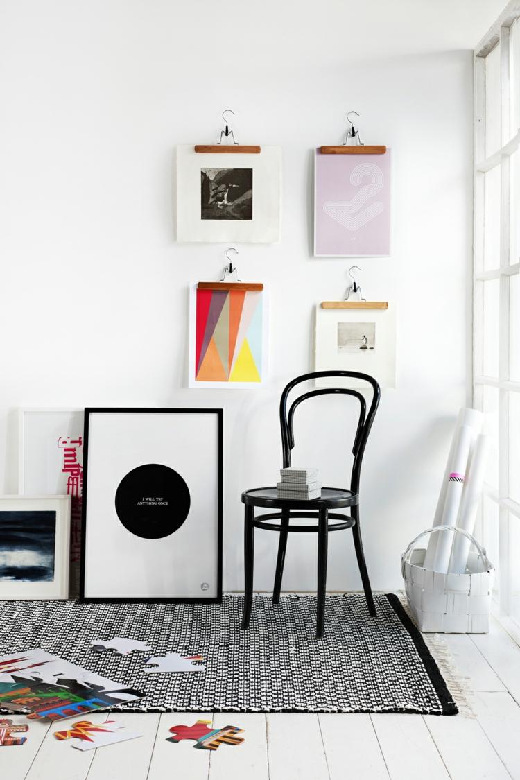 kreative wandgestaltung - 35 inspirierende fotobeispiele und ideen, Wohnzimmer dekoo